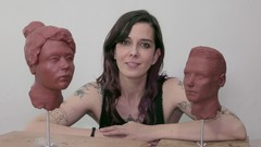 Learn how to sculpt the human head (male and female)