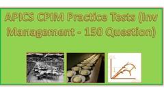 5. APICS CPIM Practice Tests (Inv Management - 160 Question)