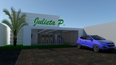 Sketchup Vray Fachadas de lojas 3D - Modelagem de fachadas