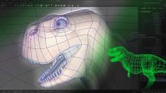 Maya Modeling Quadrilateral Based Dinosaur in 3 hours