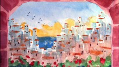 Paint this exotic city: Watercolor painting in 3 EASY steps