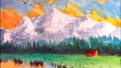 Paint this Mountain: Watercolor painting in 3 EASY steps
