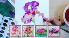 Learn Watercolor Painting: Lotus, Irises, and Magnolia