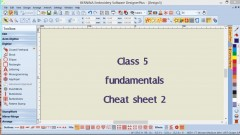 #05: Bernina Software 7 Fund Cheat Sheet 2 Outline Stitches