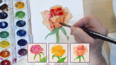 Learn Watercolor Painting: Simple Roses
