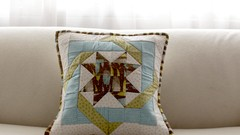 Confecciona un cojín acolchado en patchwork