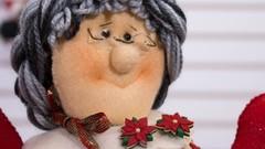 Muñequería navideña: Cafetera de Mama Noél