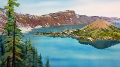 Painting Wild Places with Watercolors:  Crater Lake