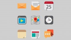 iPhone icons in iOS7 - learn flat design