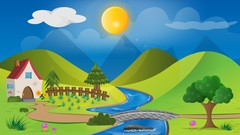 Crea un paisaje con Adobe Illustrator