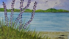 Project- Learn to Paint  this Lupine Watercolor Painting
