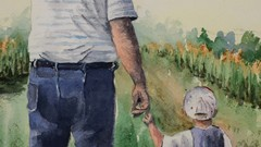 Proud Grandpa Watercolour Painting for Everyone