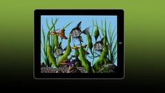 iPad Painting Of A Tropical Fish Aquarium
