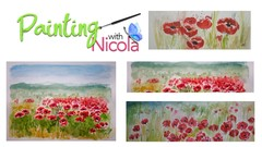 You can paint these vivid POPPIES easily in a loose style.