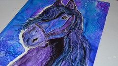 Paint a Detailed Magical Horse with Alcohol Inks on Yupo
