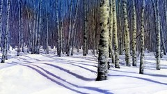 Painting Wild Places with Watercolors: Winter Birches