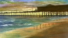Painting Wild Places with Watercolors: Nags Head Sunrise