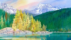 Painting Wild Places with Watercolors: Lake McDonald