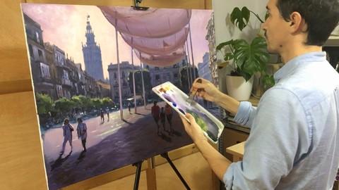 Netcurso - //netcurso.net/curso-de-pintura-al-acrilico-oleo-el-paisaje-urbano
