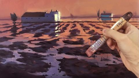 Netcurso-curso-de-pintura-al-acrilico-oleo-iniciacion-paisaje