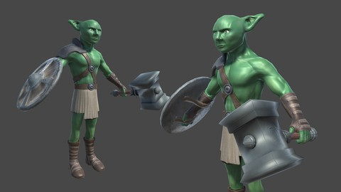 Training Course, Create Game Characters with Blender