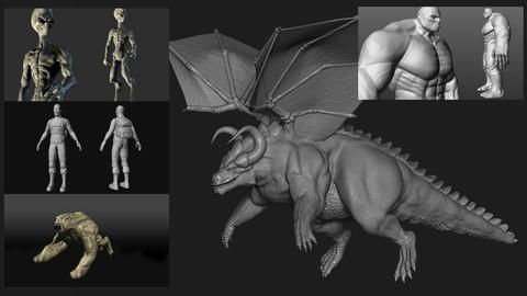 Netcurso-esculpido-organico-para-personajes-en-zbrush