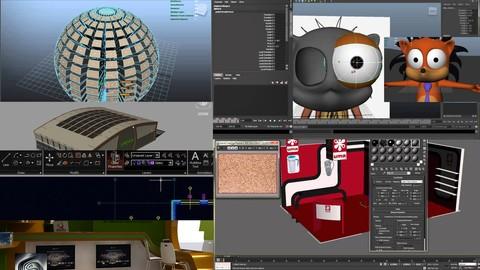 Kurs Grafika 3D dla początkujących 7 szkoleń online MEGAPACK