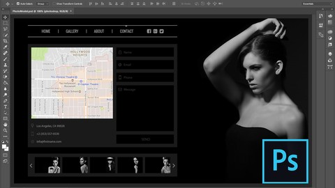 How to Design a Dark Style Website in Photoshop