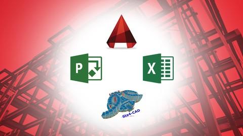 TUMAşamalarıylaINSAAT egitimi  -  AUTOCAD / STA4 / EXCEL / PROJECT