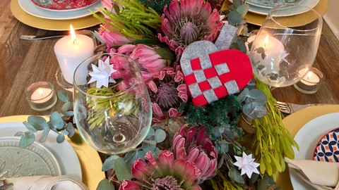Crafts and Table Settings for Winter