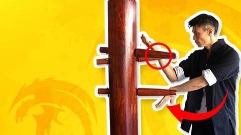 Wing Chun Wooden Dummy (Mook Jong) Training - Jeet Kune Do
