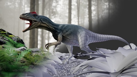 Blender 2.79 Dinosaur creation from scratch