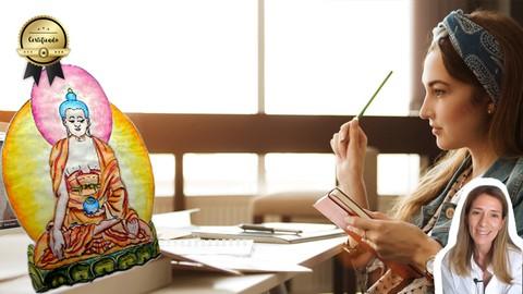 Netcurso-thangka-aprende-a-dibujar-y-colorear-pintura-tibetana