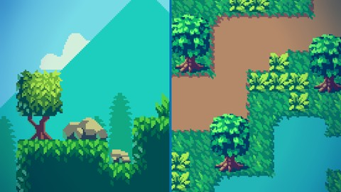 Training Course, Create Stunning Pixel Art Tilesets for Games