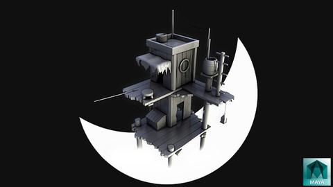 [Udemy Coupon] Autodesk Maya – Modeling Lowpoly Cartoon Fishinag House