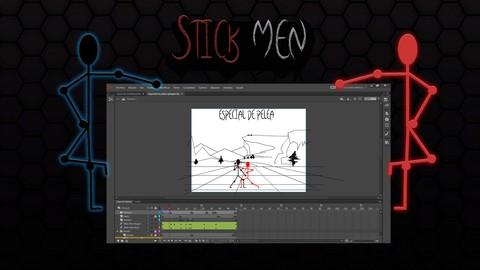 Netcurso - //netcurso.net/adobe-animate-cc-stick-men-animacion-con-huesos