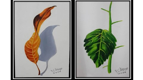 [Udemy Coupon] How To Paint Hyper Realistic Oil Painting of Leafs