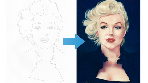 Draw Marilyn Monroe with Pastel Pencils