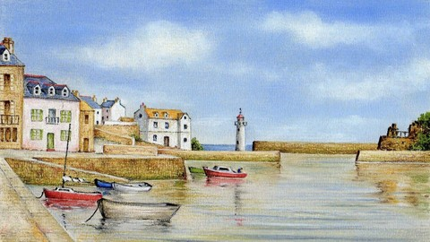 How to Draw a Harbour Landscape with Pastel Pencils