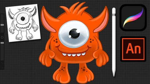 Create animated 2D characters using Procreate and Animate CC | Udemy