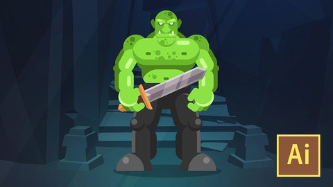 [Udemy Coupon] Learn Illustrator CC: Create a Simple Flat Vector Orc