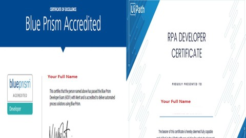 [Udemy Coupon] BLUE PRISM & UIPATH certificates (Screenshots of reel exam)