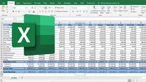 [Udemy Coupon] Excel Basics: Learn While Creating a Personal Budget