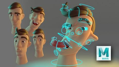 Netcurso-rigging-facial-estilo-cartoon-en-maya