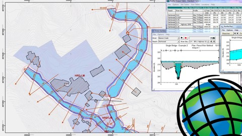 #GIS - Modeling and flood analysis with Hec-RAS and ArcGIS