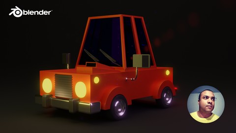 [Udemy Coupon] Modelando Carro Cartoon com Blender 2.8
