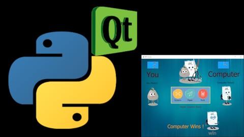 PyQt Python GUI Desktop Application Development RPS Game2019