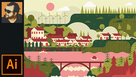 [Udemy Coupon] Flat Landscape Design in Illustrator (Perfect For Beginners)