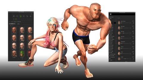 Create 3D Game Characters: No modeling or rigging required*