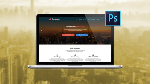 Free 100 Off The Ultimate Web Designing Course In Photoshop Web Design Learn Viral